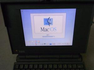 PowerBook 180cの起動画面