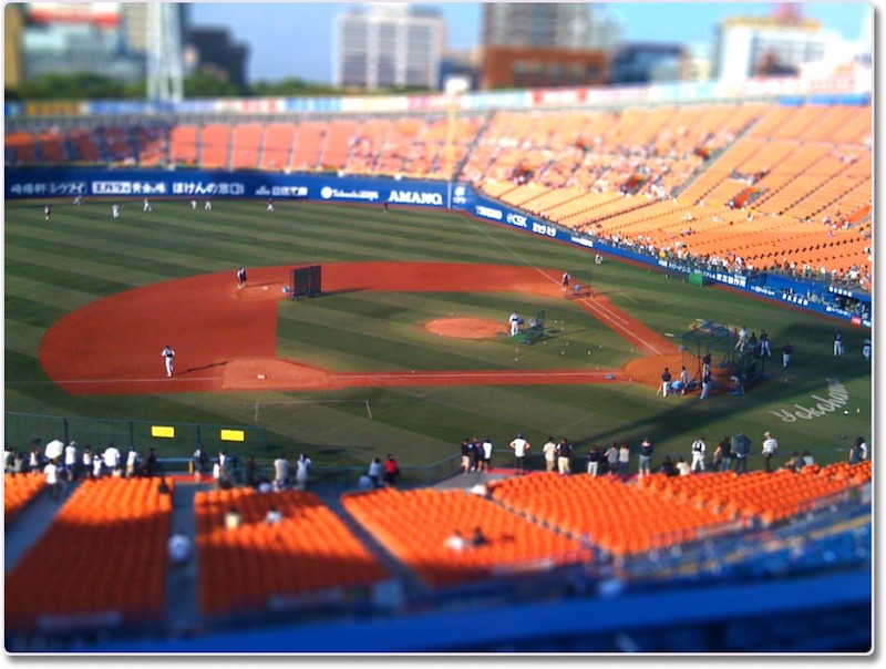 横浜スタジアムのミニチュアエフェクト