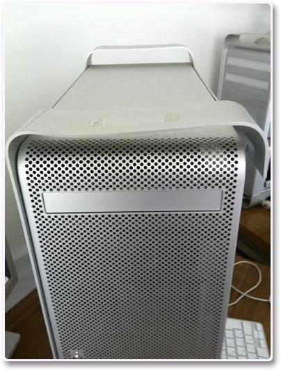 ダメージを受けたMac Pro