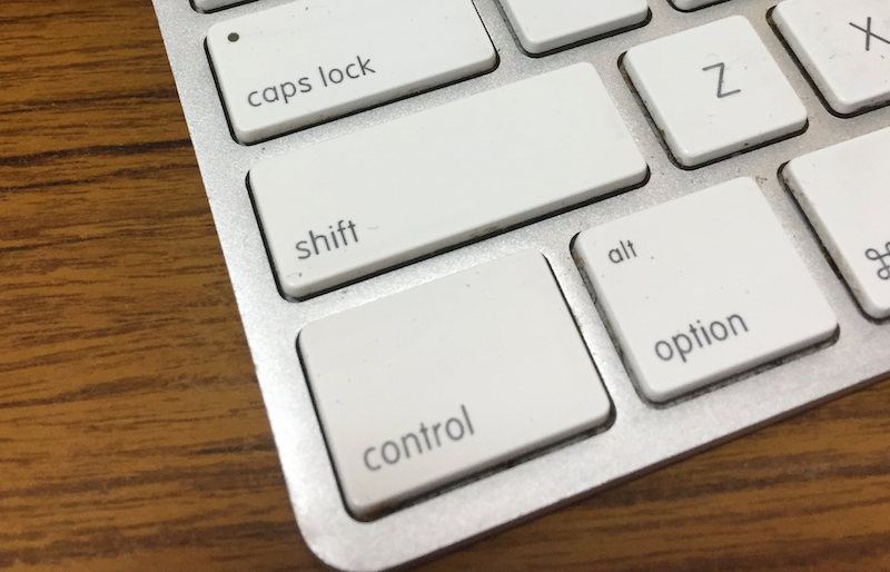 キャピタルロックとコントロールキー