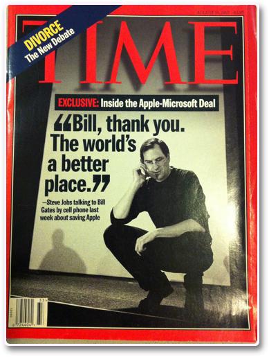 Time Magazine ジョブスアップル復帰