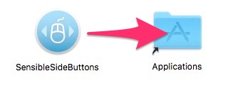 SensibleSideButtonsをアプリケーショフォルダーへ