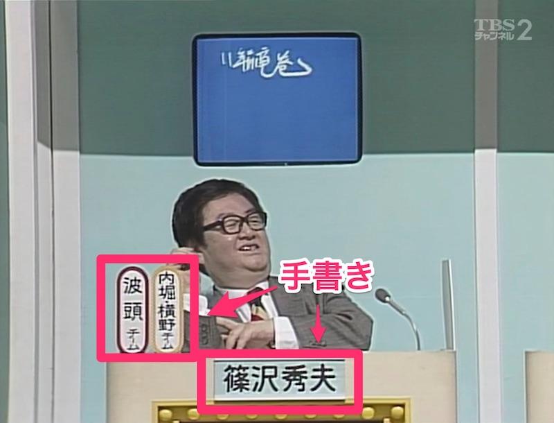篠沢教授・投票