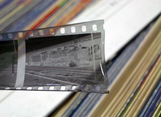 ビネガーシンドロームのネガフィルム