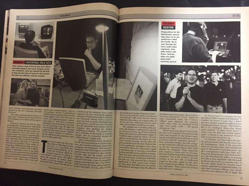 タイムマガジン1997年8月18日号スティーブ・ジョブズがアップルに復帰