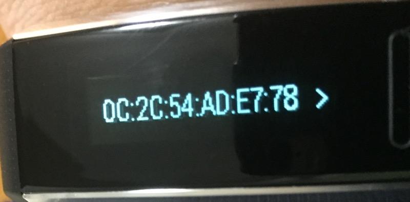 Huawei Band 2リセット方法