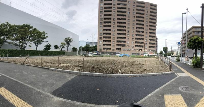 横浜アリーナ横の五右衛門が更地になっていた